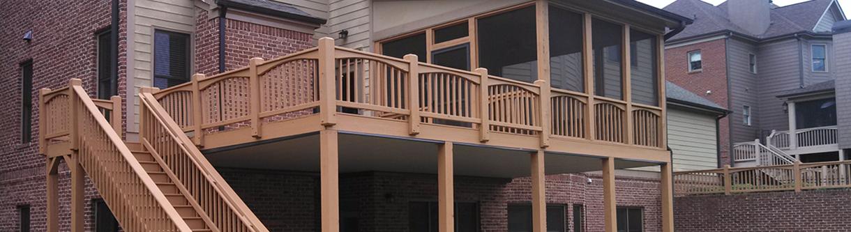 Screened patio by ContractorMen 30 Industrial Park Road Suite 112 Dawsonville GA 30534